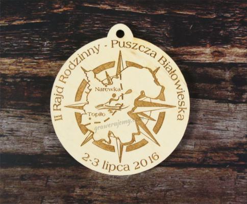 Medal drewniany, Róża Wiatrów