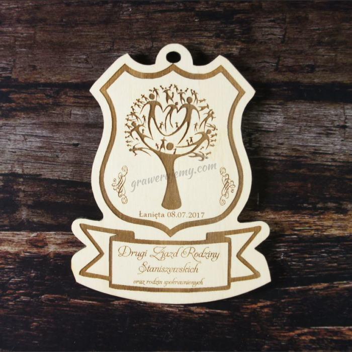 Medal drewniany 105. Zjazd Rodzinny