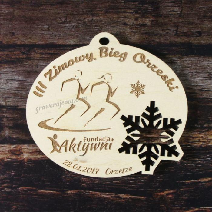 Medal drewniany 106. Zimowy bieg orzeski