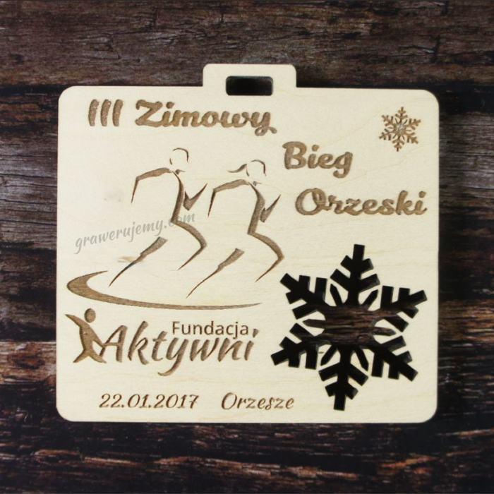 Medal drewniany 107. Zimowy bieg orzeski