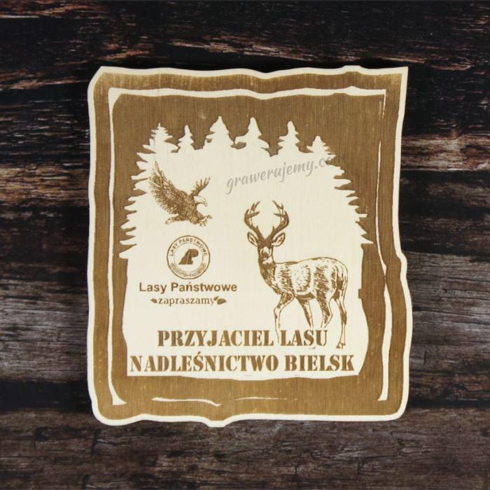 Medal drewniany Przyjaciel lasu 109