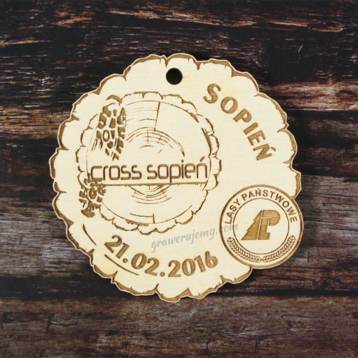 Medal drewniany Cross