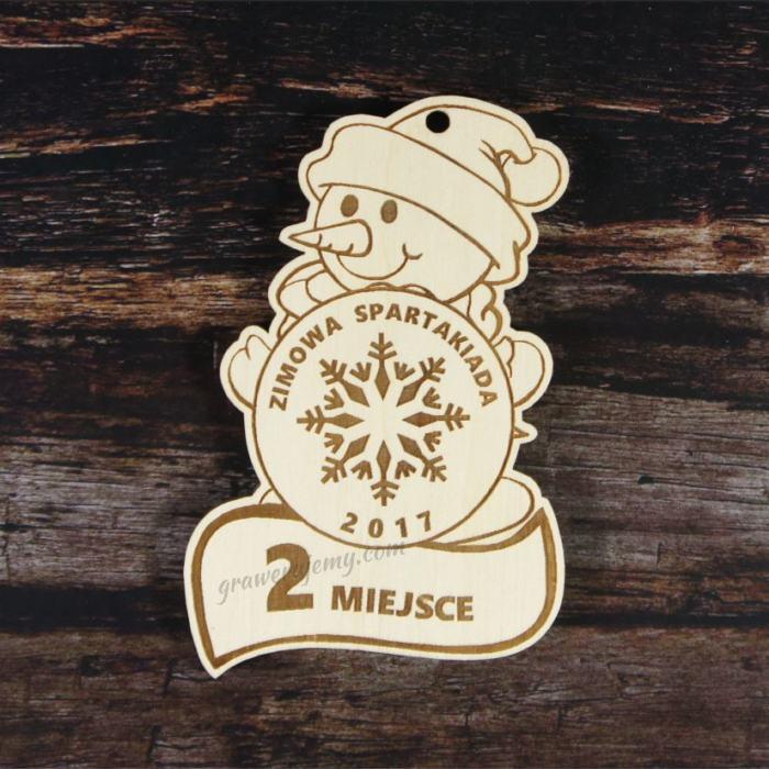 Medal drewniany 115. Bałwanek Zimowa spartakiada