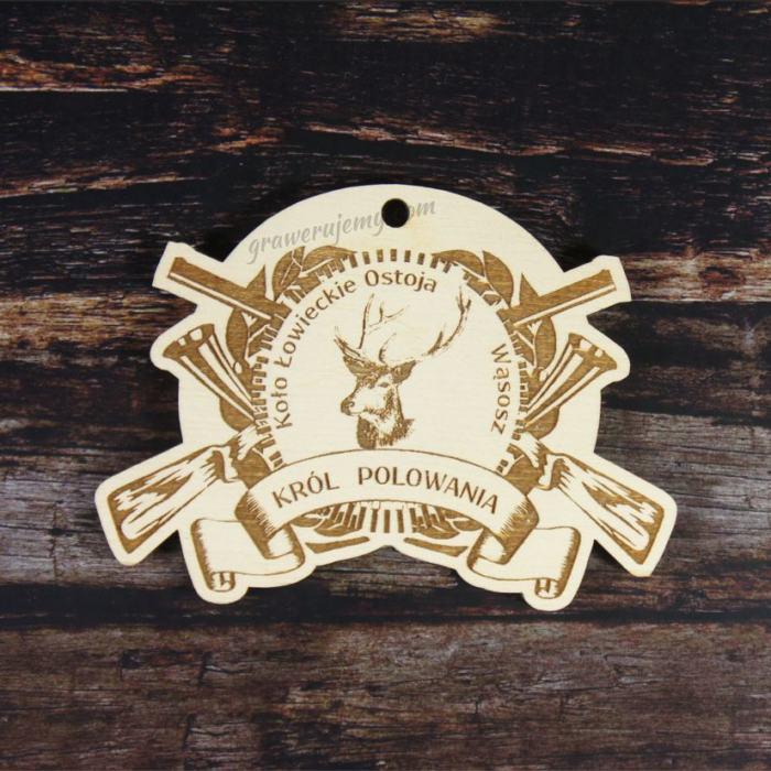 Medal drewniany Myśliwski Król Polowania 116