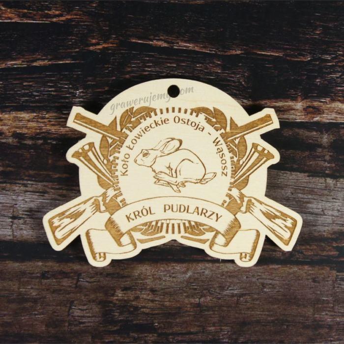 Medal drewniany Myśliwski Król Pudlarzy 118