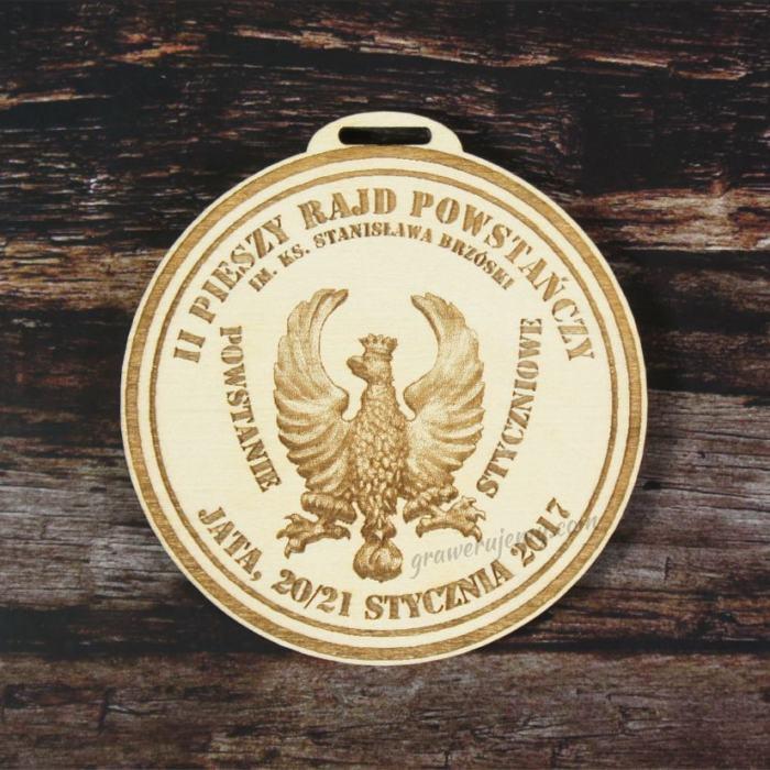 Medal Drewniany Rajd Powstańczy
