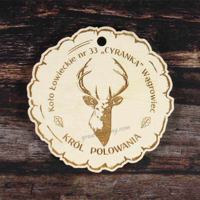Medal drewniany 125. Król Polowania