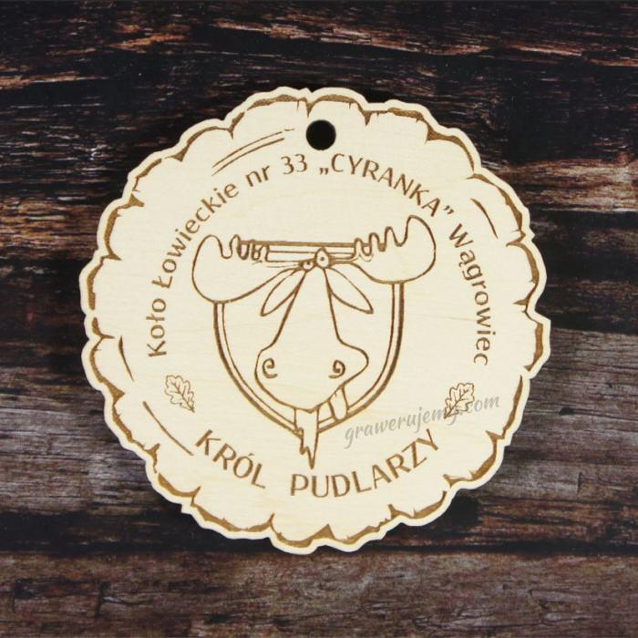 Medal drewniany 127. Król Pudlarzy