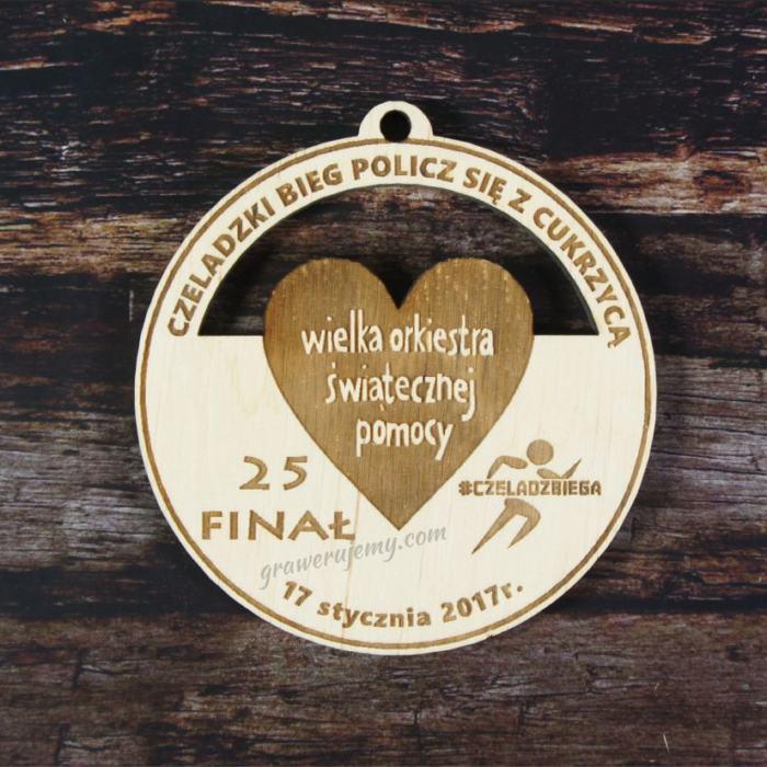 Medal Drewniany Wielka Orkiestra Świątecznej Pomocy