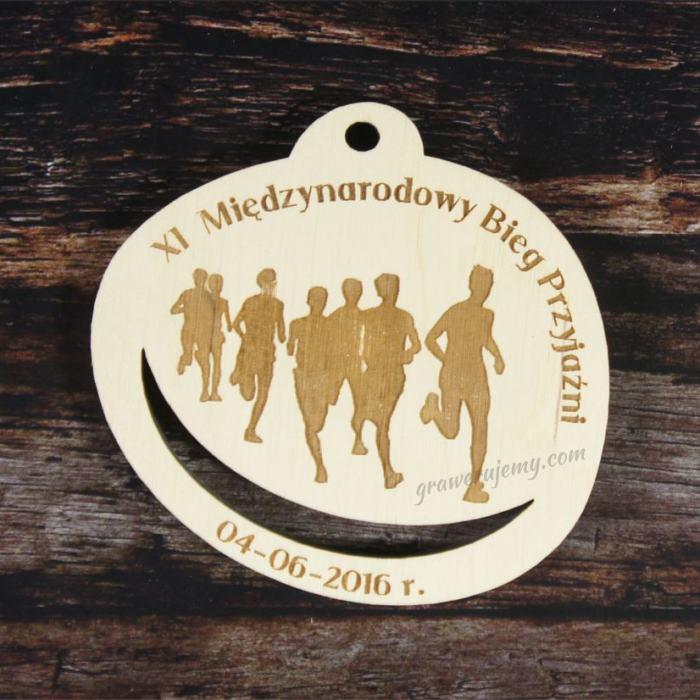Medal drewniany 130. Międzynarodowy Bieg Przyjaźni
