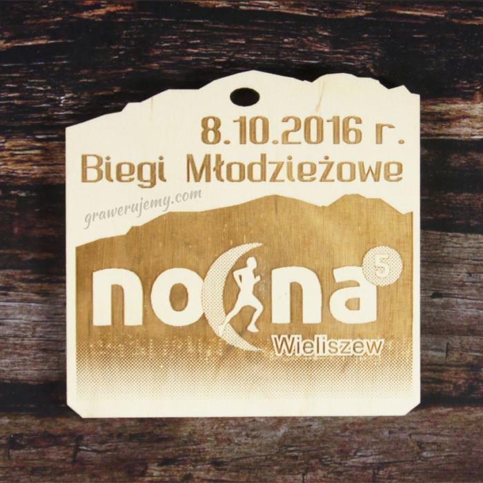 Medal drewniany 134. biegi młodzieżowe