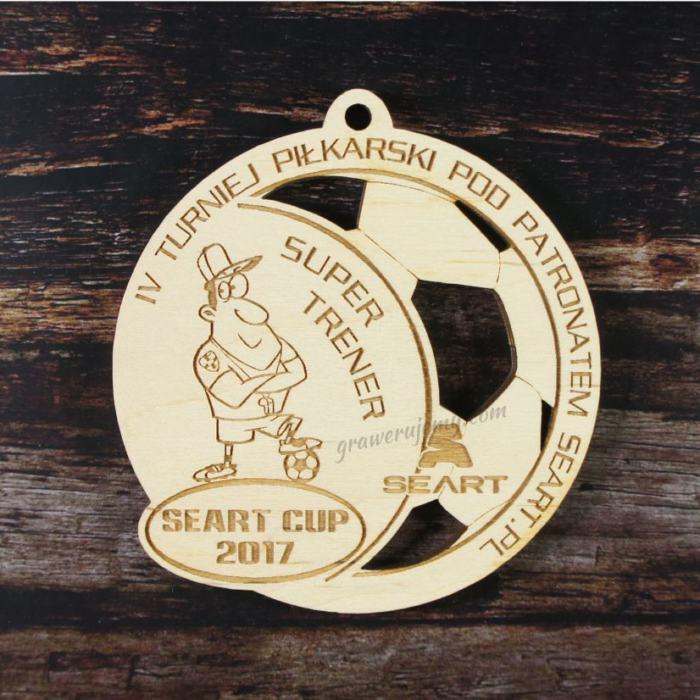 Medal drewniany 143. Turniej piłkarski