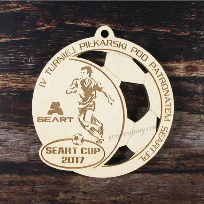 Medal drewniany 145. Turniej piłkarski