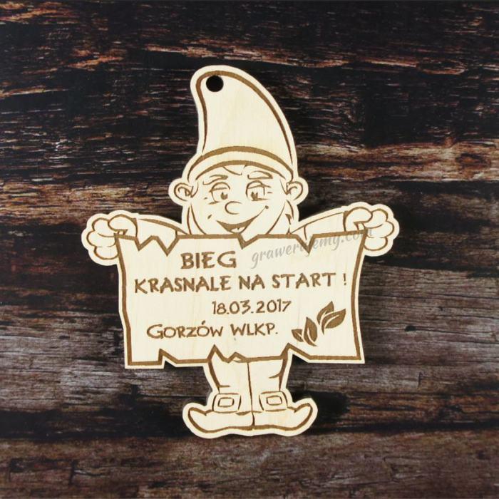 Medal drewniany 146. Krasnale na start