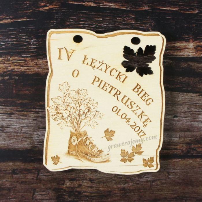 Medal drewniany 150. Bieg o pietruszkę