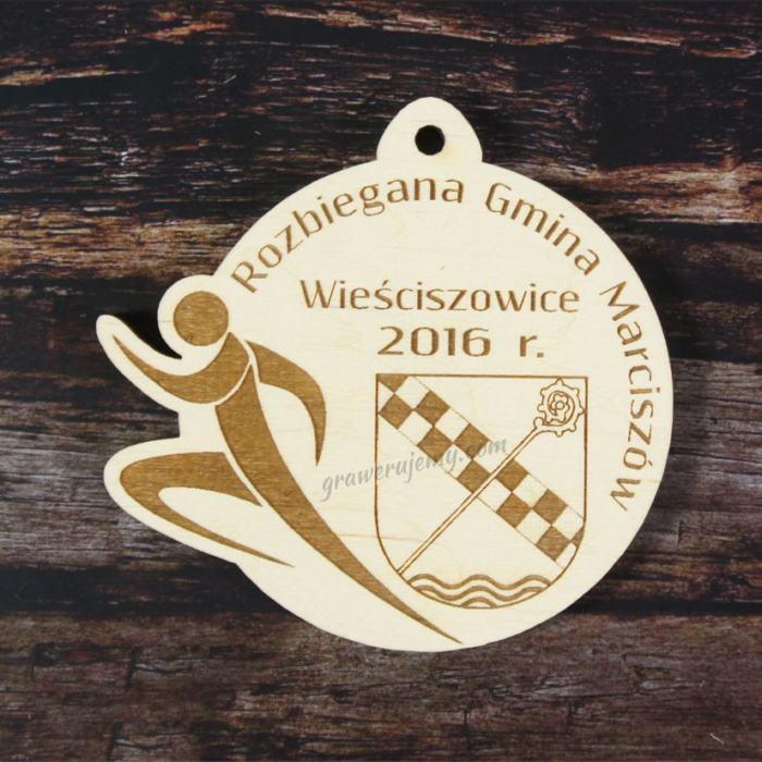 Medal drewniany Rozbiegana Gmina