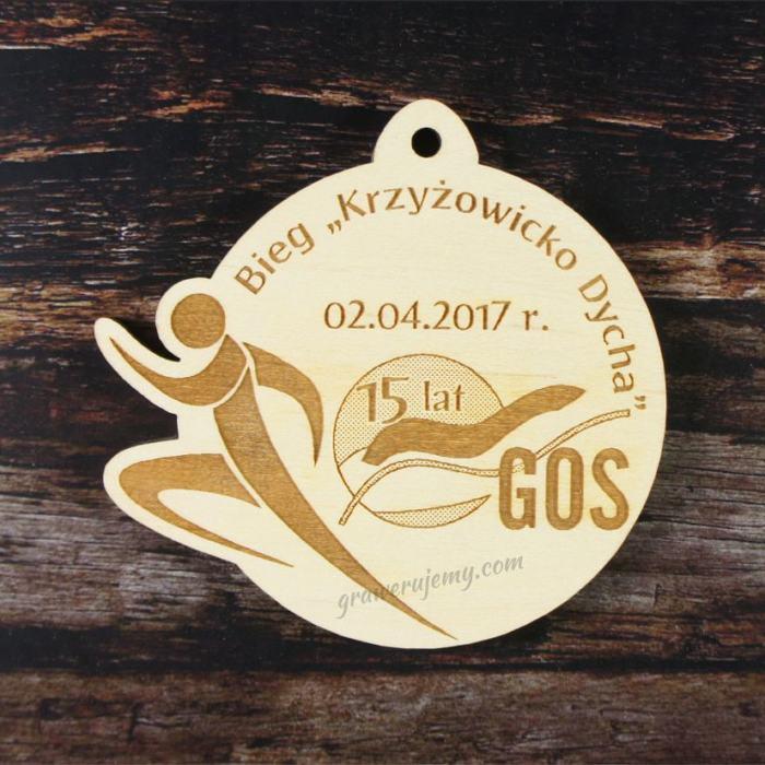 Medal drewniany 163. Krzyżowicko dycha