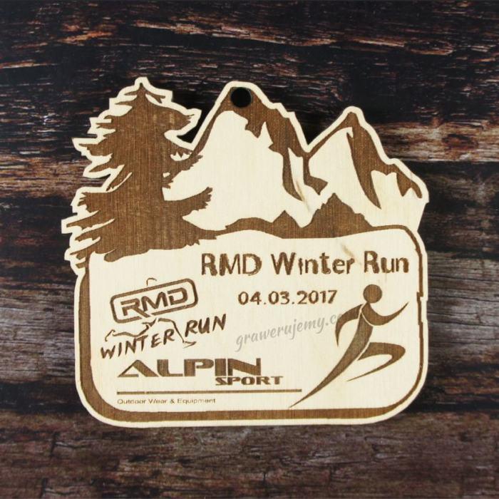 Medal drewniany 166. Winter Run