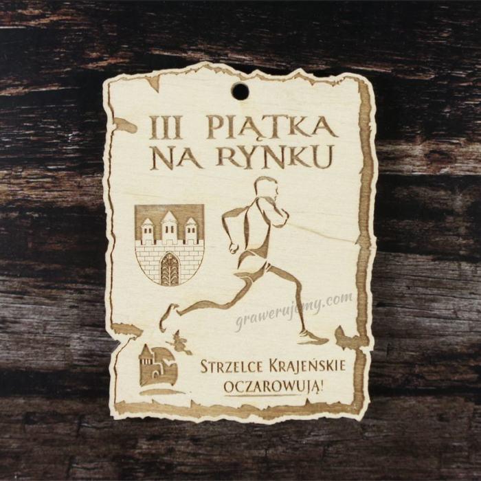 Medal drewniany 167. Piątka na rynku
