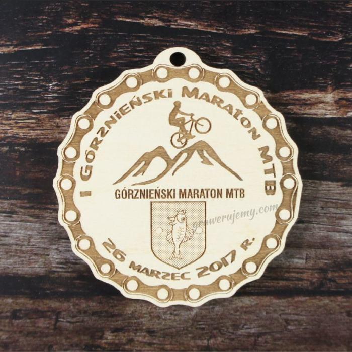 Medal drewniany 168. Górznieński Maraton MTB
