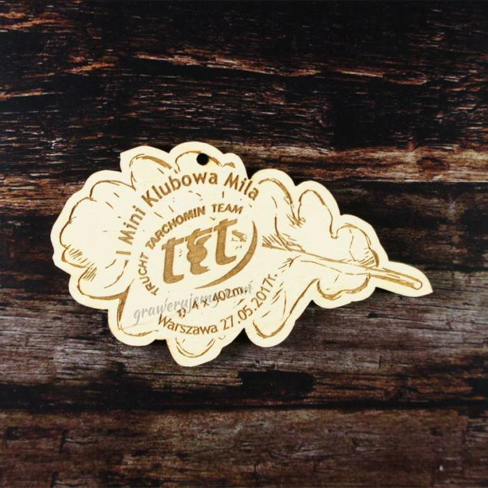 Medal drewniany 169. Klubowa Mila