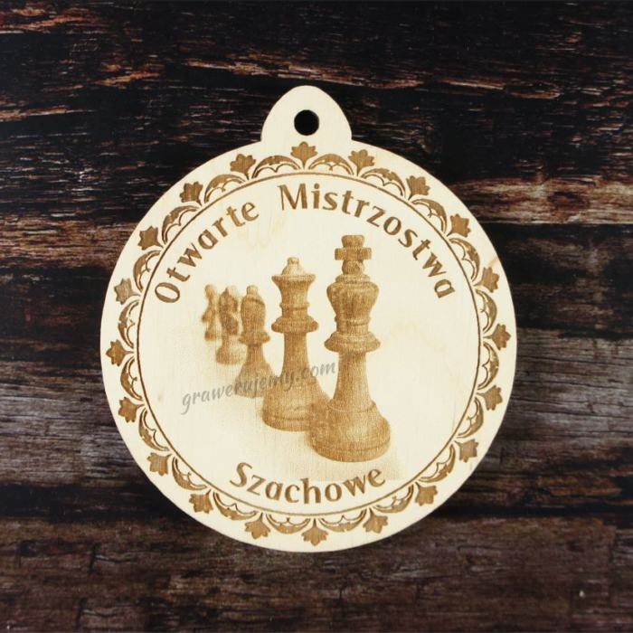 Medal drewniany 170. Turniej szachowy