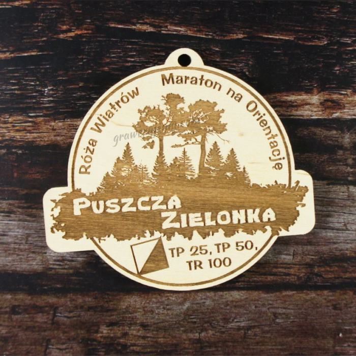 Medal drewniany 171. Róża Wiatrów Maraton na Orientację