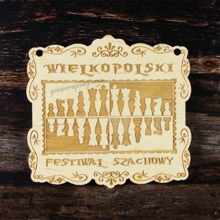 Medal drewniany 172. Festiwal szachowy
