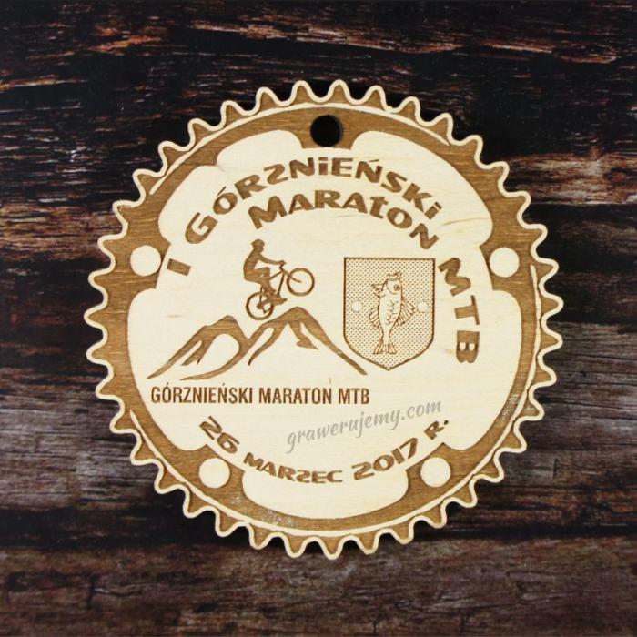 Medal drewniany 173 - Maraton MTB
