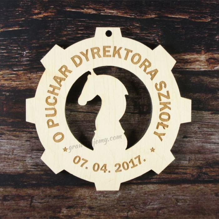 Medal drewniany 174. Turniej szachowy