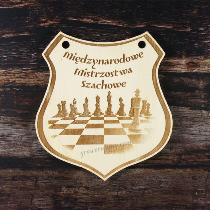 Medal drewniany 176. Mistrzostwa szachowe