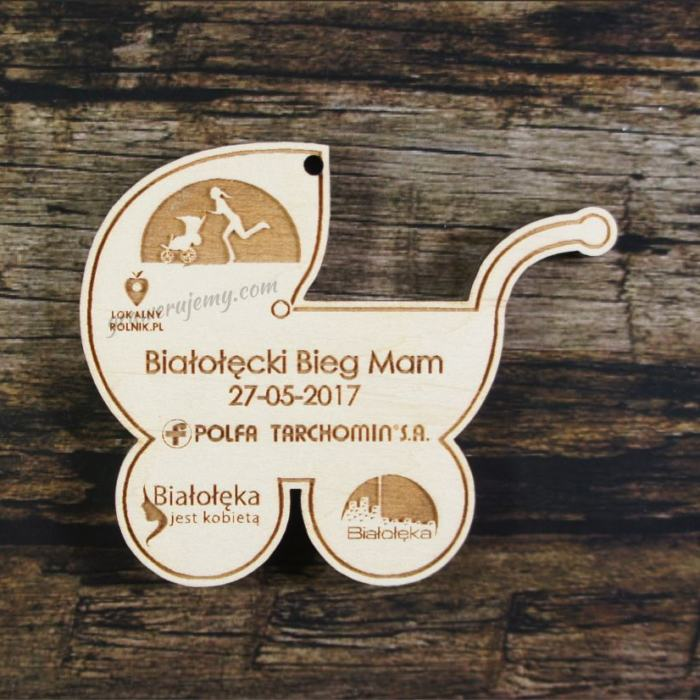 Medal drewniany 178 - Bieg Mam