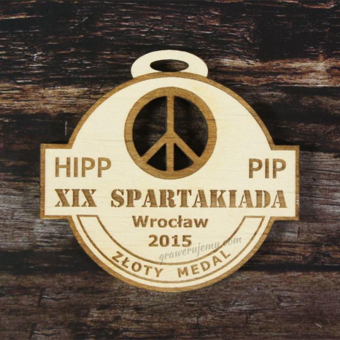 Medal drewniany Spartakiada
