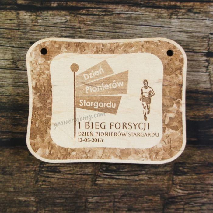 Medal drewniany 180 - Bieg Pionierów