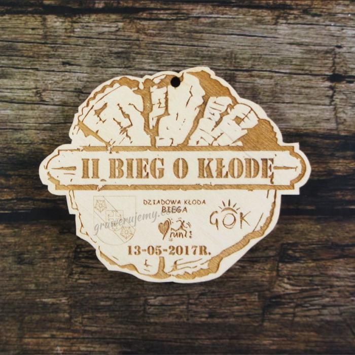 Medal drewniany 182 - Bieg o kłodę