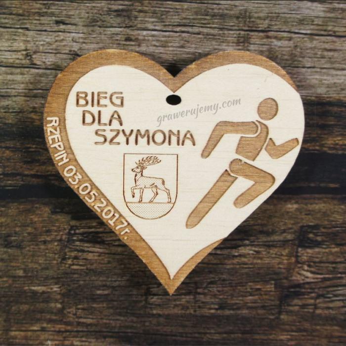 Medal drewniany 183 - Bieg dla Szymona