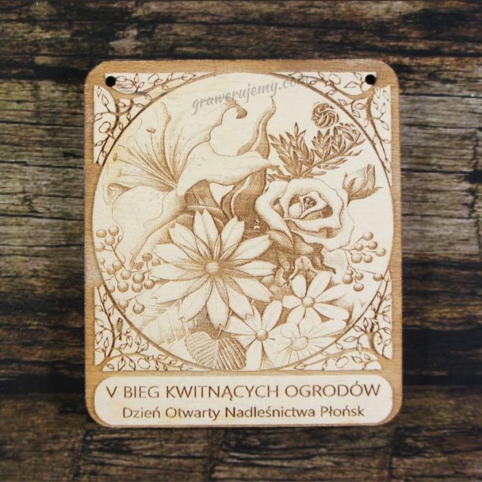 Medal drewniany 183 - Bieg kwitnących ogrodów