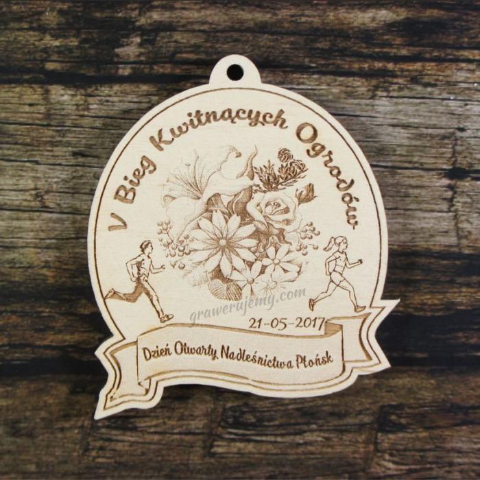Medal drewniany 186 - Bieg kwitnących ogrodów