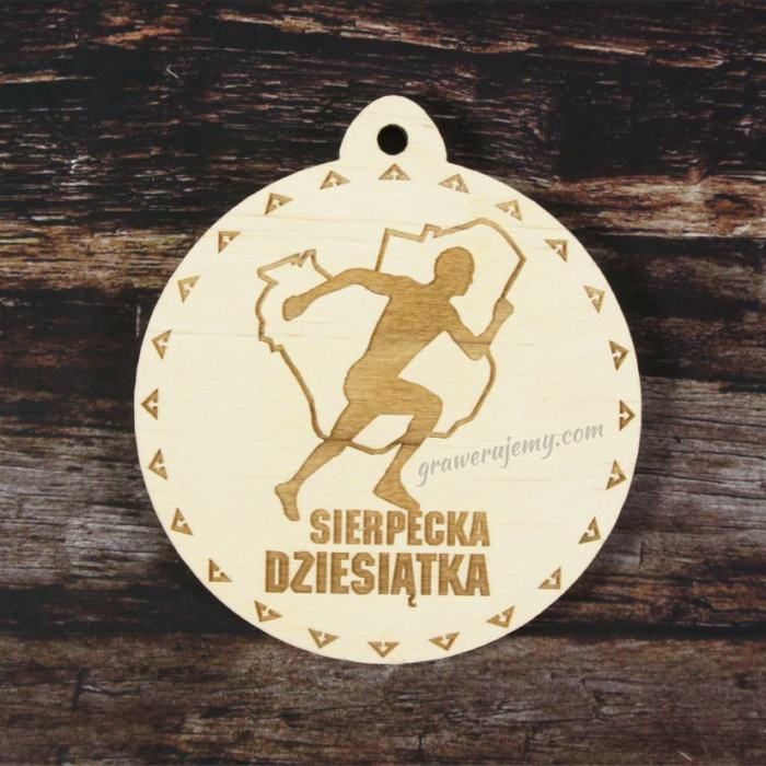 Medal drewniany Bieg Dziesiątka