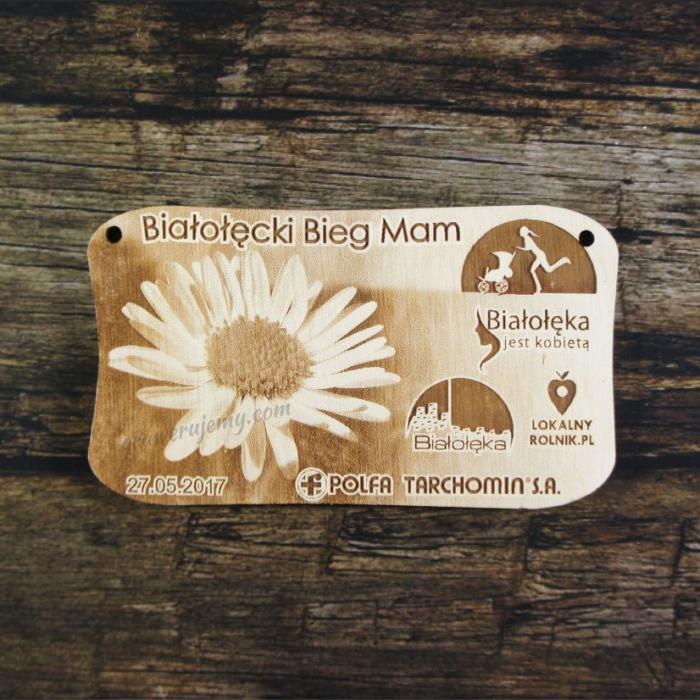 Medal drewniany 192 - Bieg Mam