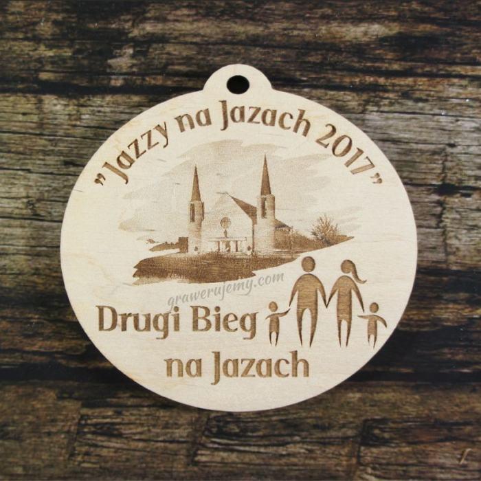Medal drewniany 200 - Bieg na jazach