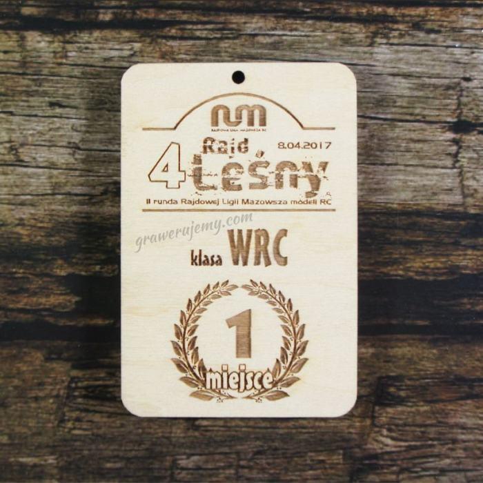 Medal drewniany 208 - rajd leśny
