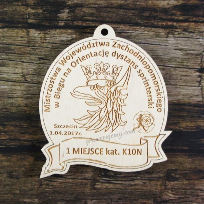 Medal drewniany 209 - Bieg na orientację