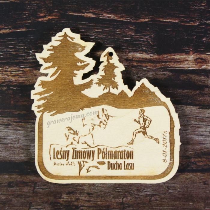 Medal drewniany Zimowy Półmaraton