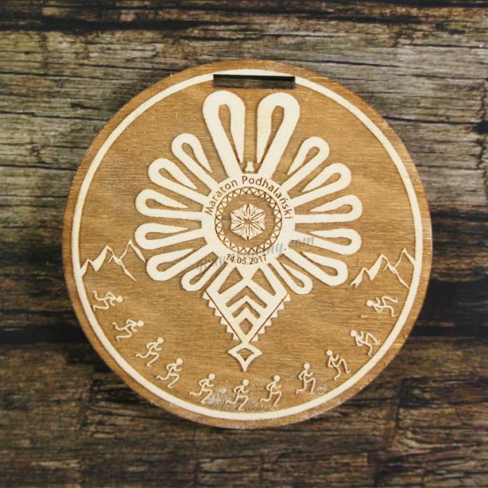 Medal drewniany 210 - Maraton podhalański