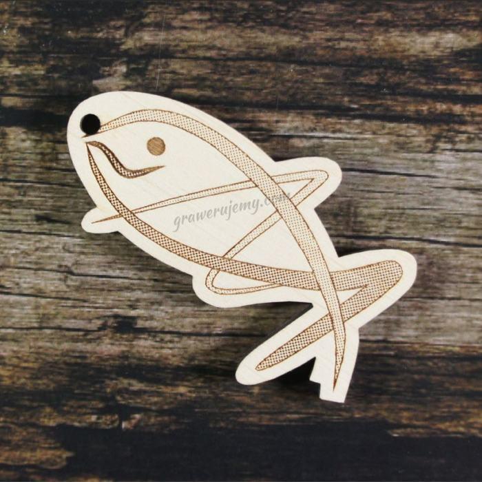 Medal drewniany 213 - ryba