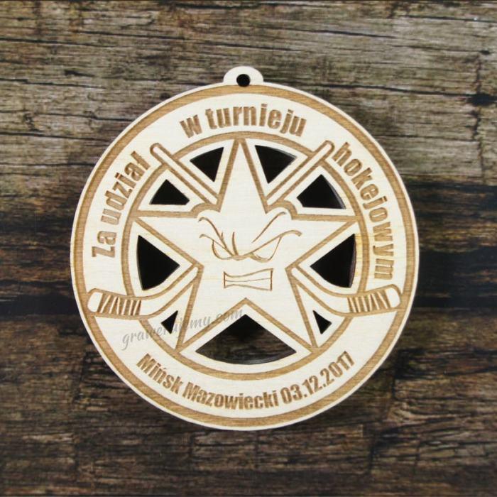 Medal drewniany 215 - Turniej hokejowy