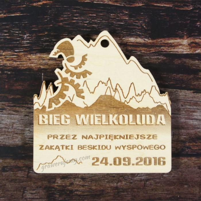 Medal drewniany Beskid Wyspowy