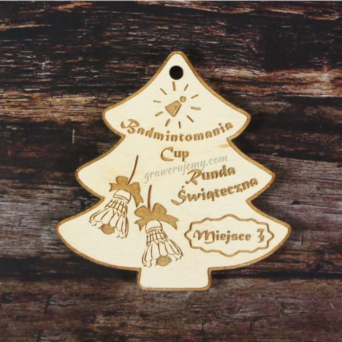 Medal drewniany 29. Choinka Badminton
