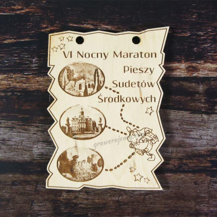 Medal drewniany, Nocny Maraton Pieszy
